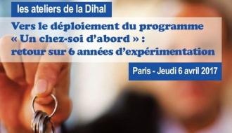 A venir : 53ème atelier de la Dihal sur le déploiement du programme « Un chez-soi d'abord »