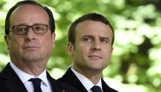 Passation des pouvoirs entre François Hollande et Emmanuel Macron