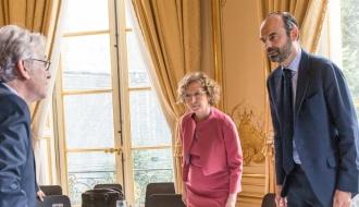 Édouard Philippe et Muriel Pénicaud reçoivent les partenaires sociaux