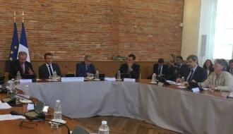Déplacement du président de la République à Toulouse sur le thème du Logement d'abord