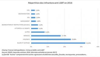 Plus de 1000 victimes de crimes ou de délits « anti-LGBT » recensées dans les procédures des forces de sécurité en 2016