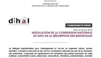 Installation de la Commission nationale de suivi de la résorption des bidonvilles