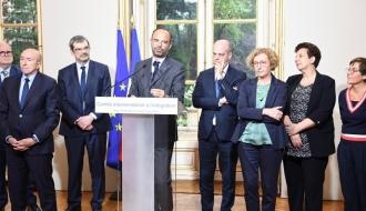 Le Premier ministre, Édouard Philippe, lors de son discours à l'issue du Comité interministériel à l'intégration.