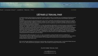 La plateforme de promotion et de développement du travail pair en région Auvergne-Rhône-Alpes lance son site internet