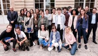 No(s) Cliché(s), les lauréats du concours de communication réunis au Collège de France