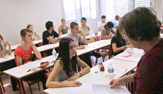 Lycéens en classe d'examen