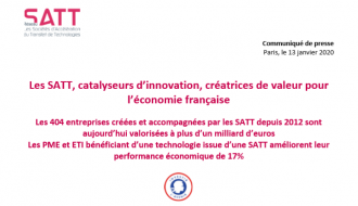 Les sociétés d'accélération du transfert des technologies (SATT), les catalyseurs pour l'innovation