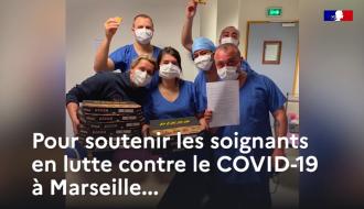 COVID-19 | Initiative solidaire à Marseille, pour soutenir les soignants | Gouvernement