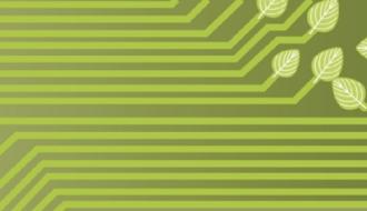 Un réseau numérique avec des feuilles