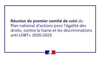 Réunion du premier comité de suivi du Plan national d'actions pour l'égalité des droits, contre la haine et les discriminations anti-LGBT+ 2020-2023