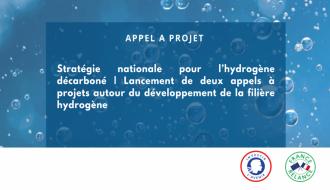 Stratégie pour l'hydrogène décarboné   Deux appels à projets pour le développement de la filière hydrogène