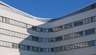 Les bâtiments d'un hôpital