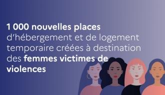 1 000 nouvelles places d'hébergement et de logement temporaire créées à destination des femmes victimes de violences