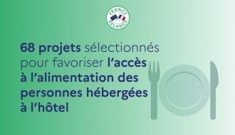 Communiqué de presse : 68 projets retenus pour la création et le développement de tiers-lieux destinés à favoriser l'accès à l'alimentation des ménages hébergés à l'hôtel