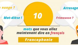 Les mots que vous allez dire en français