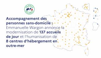 Accompagnement des personnes sans-domicile : Emmanuelle Wargon annonce la modernisation de 137 accueils de jour et l'humanisation de 8 centres d'hébergement en outre-mer