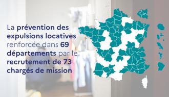 La prévention des expulsions locatives renforcée dans 69 départements par le recrutement de 73 chargés de mission