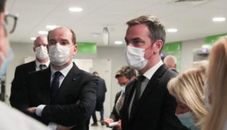 Jean Castex et Olivier Veran au CHU de Dijon