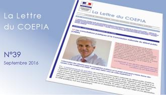 La lettre du COEPIA n° 39  - Septembre 2016
