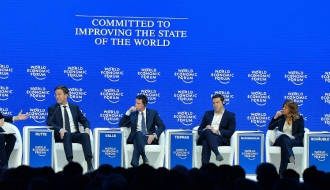 """Manuel Valls in Davos: """"France is here to say that it is implementing strong and courageous reforms"""""""
