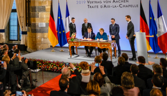 Treaty of Aachen: a new treaty to strengthen Franco-German cooperation and facilitate convergence between the two countries.