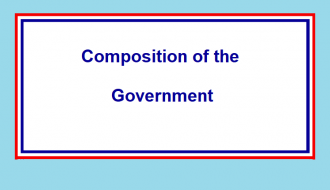 Composition of the Government