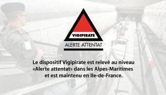 Vigipirate « Alerte attentat » dans les Alpes -Maritimes