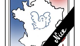 Hommage aux victimes de l'attentat de Nice le 14 octobre