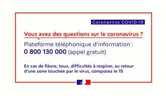 Pour contrer le coronavirus Covid-19, la France unie, c'est notre meilleur atout