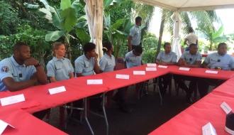 Le Délégué interministériel Jean-Marc Mormeck rend hommage aux jeunes réservistes de la Gendarmerie de  la Martinique