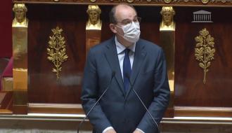 Le Premier ministre, Jean Castex, à la tribune de l'Assemblée nationale