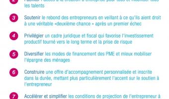 Infographie sur les 10 mesures du plan sur l'entrepreneuriat - voir en plus grand