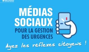 Aperçu de l'infographie : Médias sociaux pour la gestion des urgences - voir en plus grand