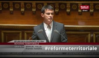 Vignette du discours de Manuel Valls au Sénat sur la réforme territoriale