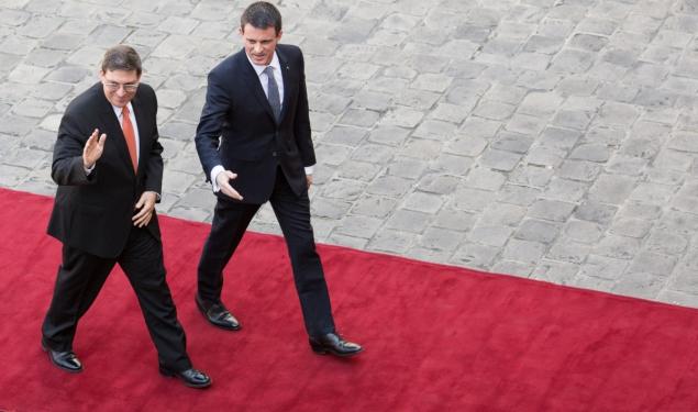 Entretien de Manuel Valls avec Bruno Eduardo Rodríguez Parrilla, ministre des Relations extérieures de la République de Cuba