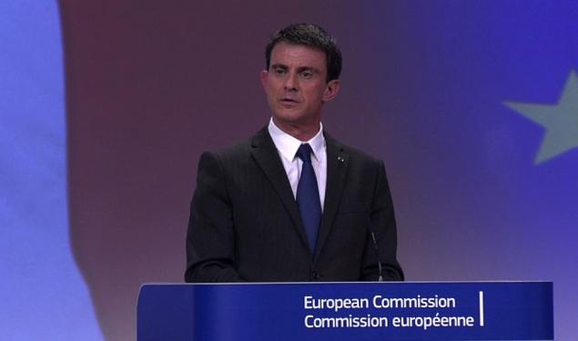 Conférence de presse de Manuel Valls à Bruxelles