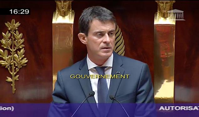 Prolongation de l'engagement des forces aériennes en Syrie : déclaration de Manuel Valls