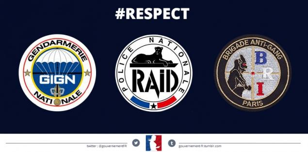 Assauts du 9 janvier 2015 : #respect à nos forces d'intervention