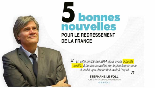 5 bonnes nouvelles pour le redressement de la France