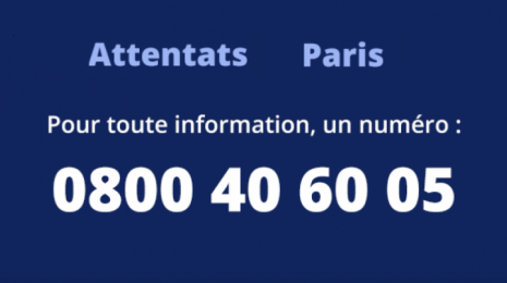 Accèder à la page Attentats de Paris : une Cellule interministérielle d'aide aux victimes (CIAV) pour aider les familles