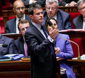 Photo de Manuel Valls à l'Assemblée nationale