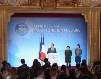 Discours de François Hollande pour l'apprentissage dans la fonction publique