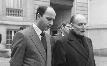 Laurent Fabius et François Mitterrand