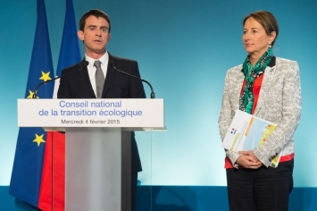 Prime Minister Manuel Valls and Minister Ségolène Royal