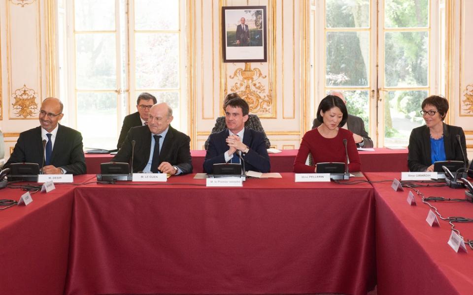 Harlem Désir, Jean-Marie Le Guen, Manuel Valls, Fleur Pellerin et Annick Girardin