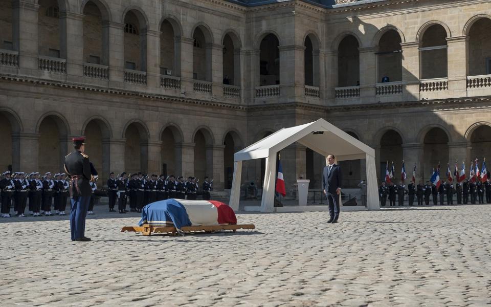 Manuel Valls à la cérémonie d'hommage à Dominique Baudis