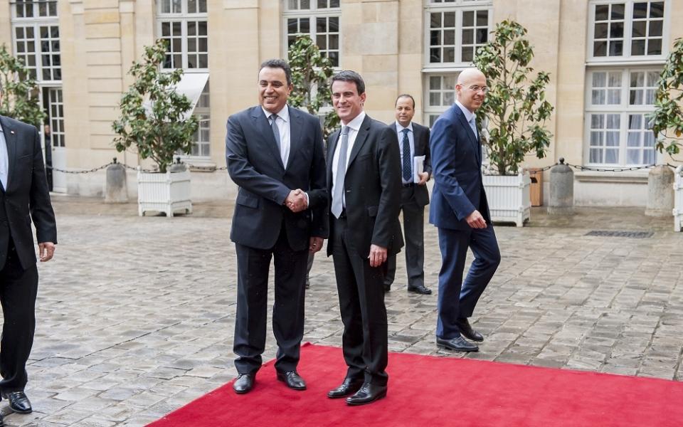 Manuel Valls reçoit Mehdi Jomaa