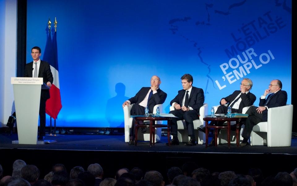 Discours de Manuel Valls sur l'emploi à la Maison de la Chimie