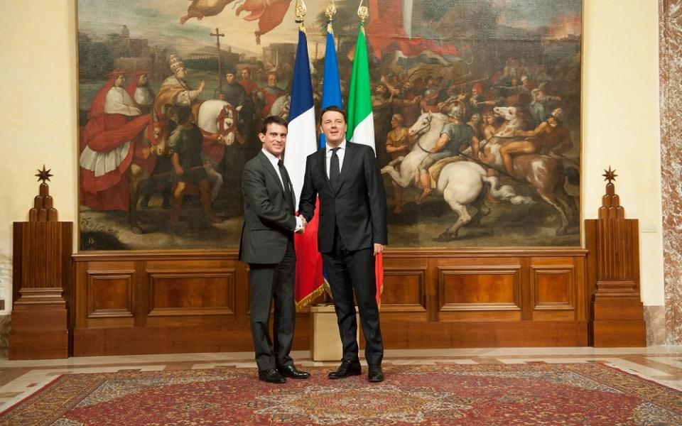 Manuel Valls et Matteo Renzi