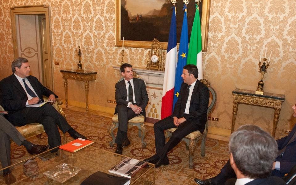 Manuel Valls en déplacement à Rome